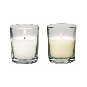 Glass Party Candle Votive 10 Hour Box | Younger and Son | Floral Wholesaler and Supplies