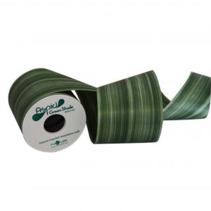 Aspidistra Decorative Waterproof Ribbon Green Shade | Younger and Son | Floral Wholesaler and Supplies