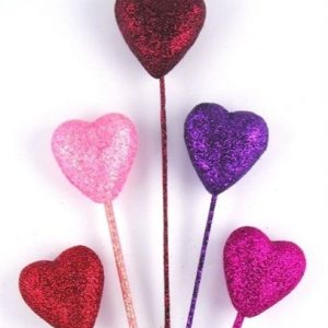 Glitter Heart Picks