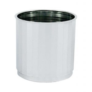 Small Silver Round Images Planter | Younger and Son | Floral Wholesaler and Supplies