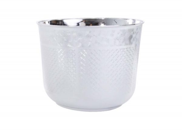 Silver Design Planter   Younger and Son   Floral Wholesaler and Supplies