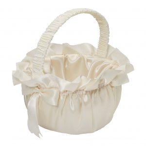 Ivory Satin Basket | Younger and Son | Floral Wholesaler and Supplies