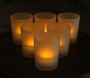LED Votive Frosted Glass