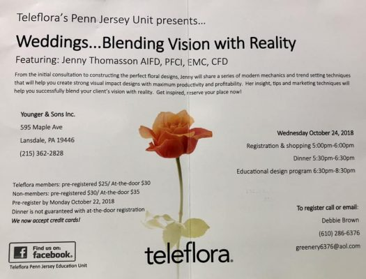 Younger and Son | Teleflora | Event | Weddings | Program | Class | Learning